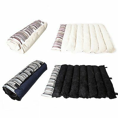 Well Padded Fleece Roll Up Portable Travel Small Pet Dog Bed Mattress 80x55cm