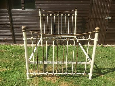 Good Victorian Brass & Iron Double Bed  Restoration Project