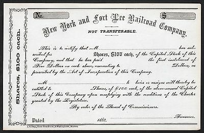 1862 New York and Fort Lee Railroad Company