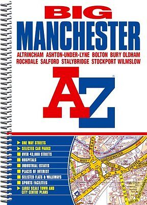 A-Z Big Manchester Street Atlas (Spiral) By Geographers A-Z Map Company
