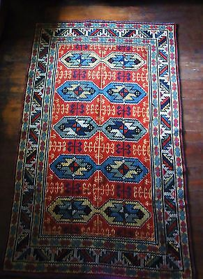 Seltener alter Wand Teppich Strickmuster WALL CARPET TAPIS ART DECO STYLE
