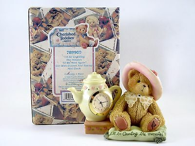 """Cherished Teddies Clock """"I'll Be Counting The Minutes Till We Meet Again"""" 789909"""