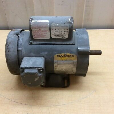 Baldor Industrial Motor 3/4 Hp 3450 Rpm