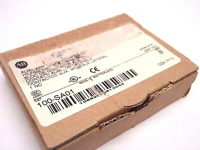 New Allen Bradley 100-SA01 SER. B Auxiliary Contact Block Bulletin 100