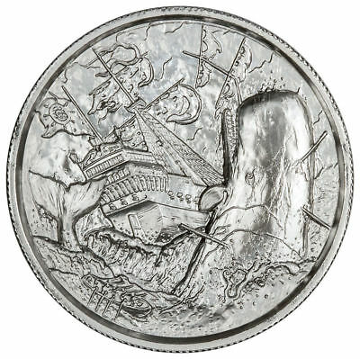 SALE !!!  2 oz Silver Round. The White Whale Privateer Ultra High Relief