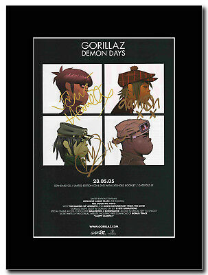Gorillaz - Demon Day - Signed Mounted Print