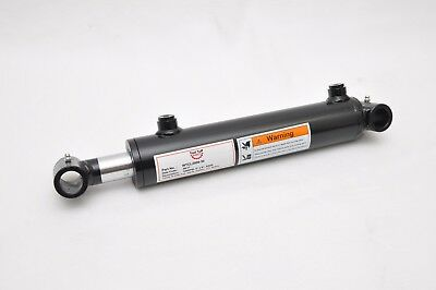"2"" Bore x 8"" Stroke Welded Cross Tube Tie Rod Cylinder 3000 PSI, SAE Ports"