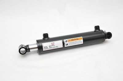 """2.5"""" Bore x 10"""" Stroke Welded Cross Tube Tie Rod Cylinder 3000 PSI, SAE Ports"""