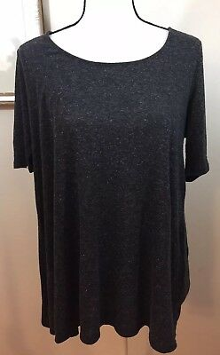 Oh Baby by Motherhood Charcoal Size Large Womens Maternity Knot Short Sleeve