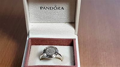 Pandora Signature Ring. Sterling Silver S925 ALE