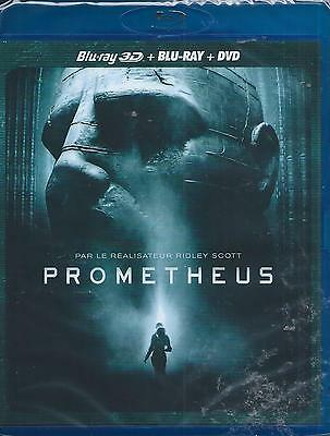 Prometheus Blu Ray 3D + Blu Ray + DVD NEUF sous cellophane