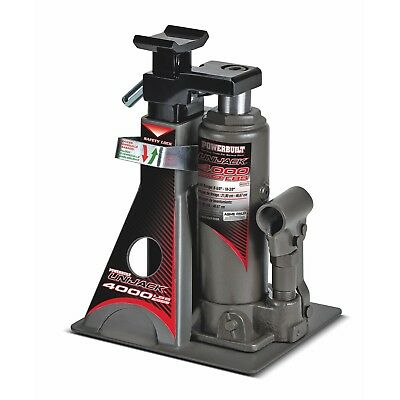 Powerbuilt 4000Lb Wide Base Lift Unijack Bottle Jack & Jackstand in One - 620470