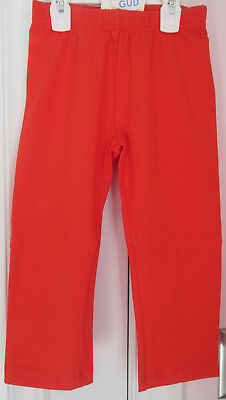NWT Hanna Andersson Girls Bright Tangy Red Basic Capri Leggings Size 140 (10)