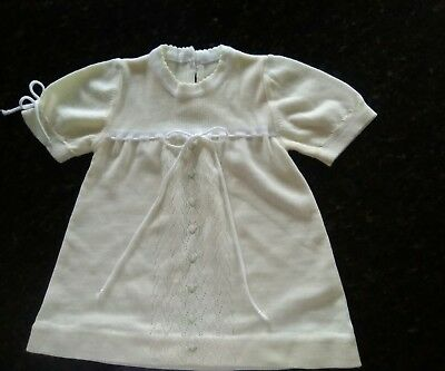 Renzo vintage fine gauge knit baby dress from Italy, size12 months
