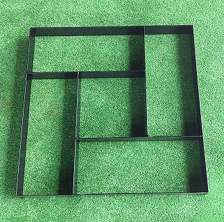 Strong Metal Paver Maker Mould 5 Brick Design - Make Your Own Pathway or Patio