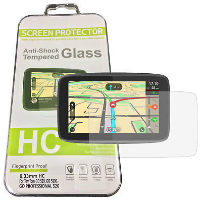9H Tempered Glass Screen Protector for TomTom GO 5200 520, GO Professional 520