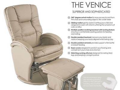 Venice glider feeding chair with ottoman