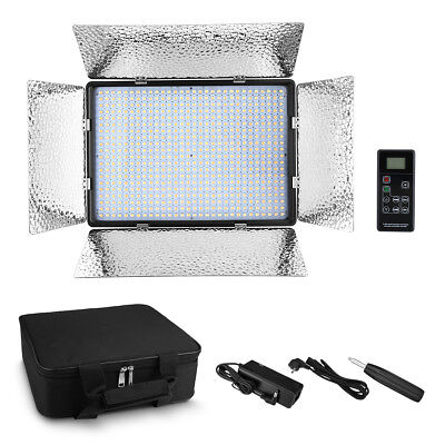 600 LEDs Video Light Panel Studio Photography Dimmer Lighting Kit 3200K- 5600K