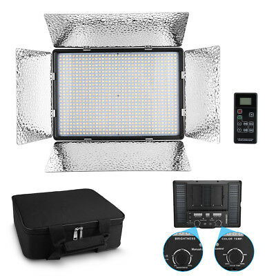 Bi-color 900 LED Video Light Panel Photography Dimmable Studio Photo Lighting