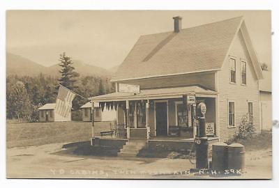Rppc Yd Cabins & Gas Station~Twin Mountain,nh 1925