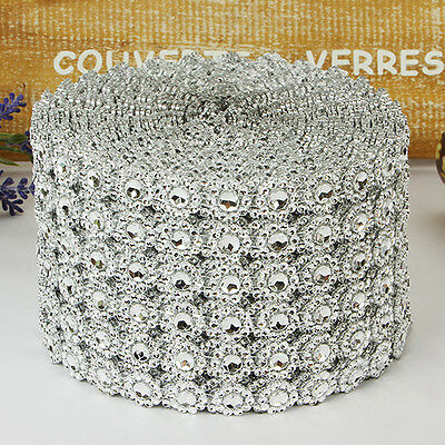 Silver Diamante Bling Sparkling Diamond Effect Wedding Cake Craft Trim Ribbon AU