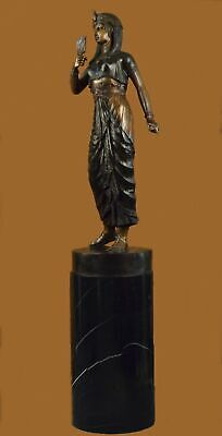 250 Lbs Huge Cleopatra Queen Of Egypt Egyptian Rare Sculpture Statue Bronze BC