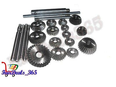 15 pcs Valve Seat & Face Cutter Set Automotive Industrial Tool-Heavy Duty