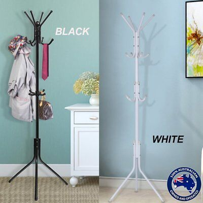 Coat Hanger Stand 3-Tier Hat Clothes Metal Rack Tree Style Storage Hooks AU ON
