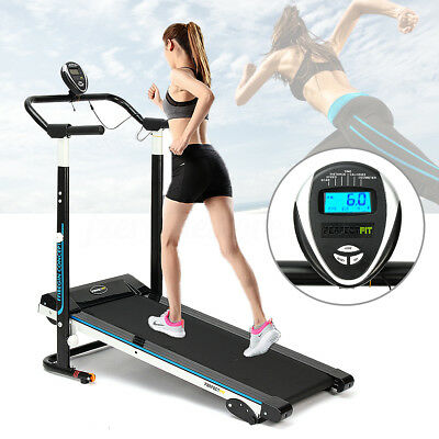 Folding Manual Treadmill Running Machine Cardio Fitness Exercise Incline 900W
