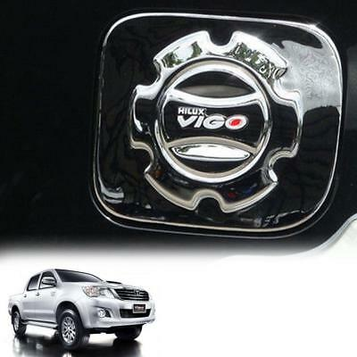 Fit 2011-15 Toyota Hilux Vigo SR5 MK 1 PC Chrome Fuel Oil Gas Tank Cap Cover