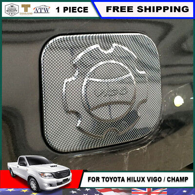 Fit 2011-15 Toyota Hilux Vigo SR5 MK 1 PC Kevlar Fuel Oil Gas Tank Cap Cover