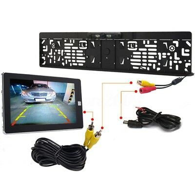 170°HD Rear View Reverse Camera Europe License Plate Parking Night Car IP67 LED