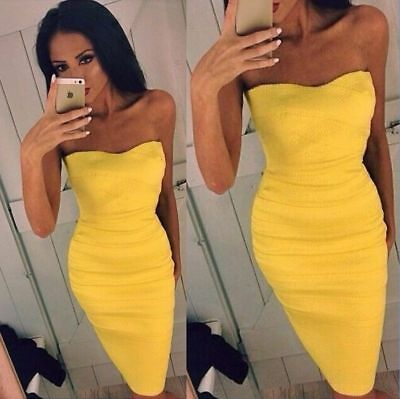 Sexy Womens Sleeveless Bandage Bodycon Evening Party Cocktail Club Mini Dress
