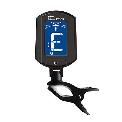ET33 Classic Digtal Tuner LCD Clip on Guitar Chromatic Ukulele Bass Auto Tuner