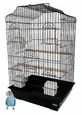 Heritage Large Double Bird Cage 47x36x68CM Parakeet Budgie Cockatiel Home Cages