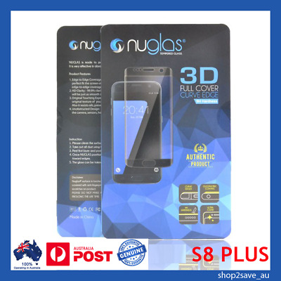 Samsung Galaxy S8 PLUS Nuglas Screen protector Curved Tempered Glass CLEAR