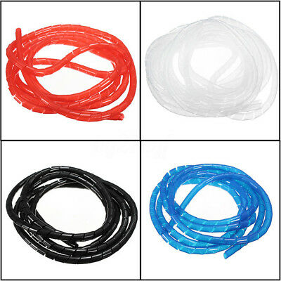 2/5/10M Spiral Tube Flexible Cord PC Cinema Cable Wire Organizer Wrap Management