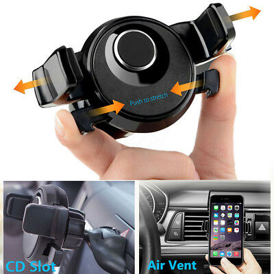 360º Universal Car CD Slot Holder Air Vent Mount Stand For Cell Mobile Phone
