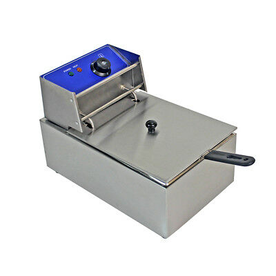 Stainless Steel Commercial single Tank Electric Deep Fat Fryer Chip 10L UK