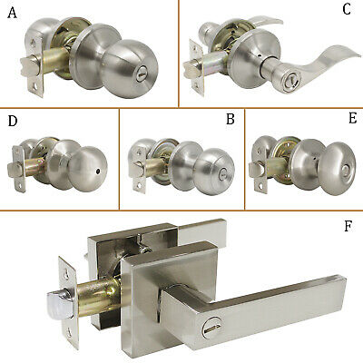 Privacy Passage Door Knob Brushed Nickel interior door Lever Handle 1/3/5/6/10X