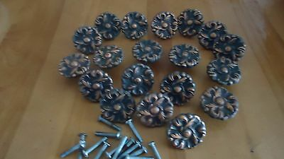 19 Vintage Drawer Pulls Handles Knobs Lot