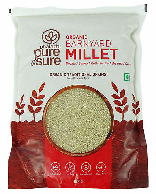 Pure & Sure Organic Gluten Free Barnyard Millet, USDA Certified - 17.6 Ounce