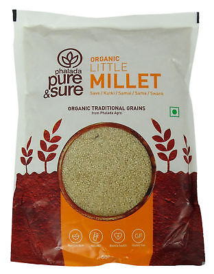 Pure & Sure Organic Little Millet Whole(Bajra), 17.6 Ounce - USDA Certified
