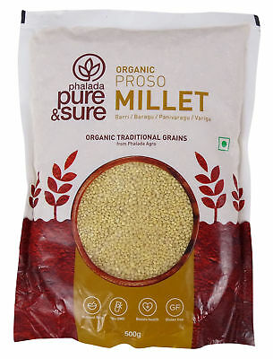 Pure & Sure Organic Proso Millet (Bajra),USDA Certified- 17.6 Ounce