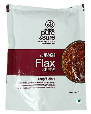 Pure & Sure Organic Flax Seed Whole(Alsi), 5.2 ounce - USDA Certified