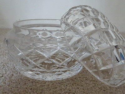 Antique Grimmade cut glass powder bowl