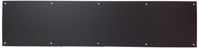 """Don-Jo 90 Metal Kick Plate, Duro Coated, 32"""" Width x 8"""" Height, 3/64"""" Thick"""