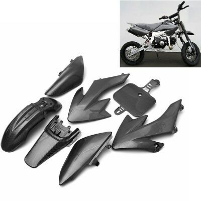 Carbon Fiber Plastic Body Work Fairing Kit For Honda XR50 CRF 50 125cc Pit Bike