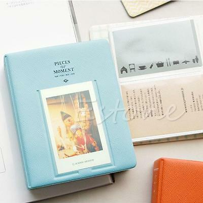 64 Pockets Album Photo For Fujifilm Instax Mini8 7s 25 50s 90 Polaroid Blue PE