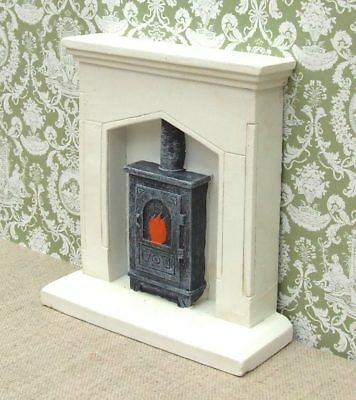 1:12 Dolls House Fire surround and Wood Burner